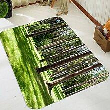 3D Wiese Bäume 205 Rutschfest Teppich Matte Raum