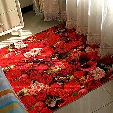 3D Wohnzimmer Teppich/Bettbett,Teetisch,Eingangshalle,Rub Fußauflage-B 45x70cm(18x28inch)