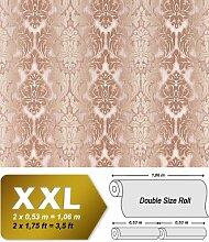 3D XXL Barock Tapete Vliestapete EDEM 691-93 Elegance Vintage Damask Relief-Tapete creme beige schoko-braun 10,65 qm