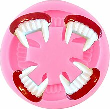 3D-Zähne Halloween-Silikonform DIY. Cupcake