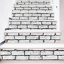 3D Ziegelstein Treppenabziehbilder aufkleber