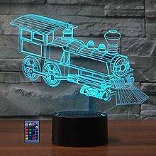 3D Zug Lampe USB Power Fernbedienung 7/16 Farben