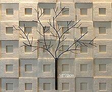 3D Zweig Kunst Wand Dekoration Eisen Retro Bar LOFT dekorative Wandmalereien ( größe : 58*70cm )