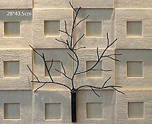 3D Zweig Kunst Wand Dekoration Eisen Retro Bar LOFT dekorative Wandmalereien ( größe : 28*43.5cm )