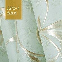 3DDrei-dimensionale Carving einfaches kontinentales Vlies Tapete Schlafzimmer Wohnzimmer TV-Wand Papier Hintergrund,Hellgr¨¹n