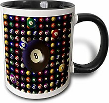 3dRose 165223_4 Becher mit Poolball-Muster,
