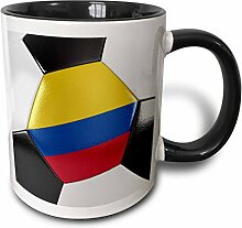 3dRose 181215_4 Colombia Soccer Ball Becher mit