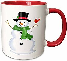3dRose 217038_5 Süßer Weihnachts-Schneemann mit