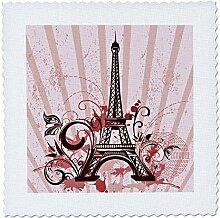 3dRose 217723_1 Eiffelturm mit Blüten und