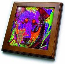3dRose A Fun Digital Art Dog X
