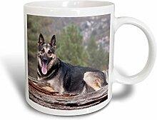 3dRose A German Shepherd Dog Becher, Keramik,