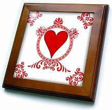3dRose Ace of Hearts. Spielkarten Poker Weiß und