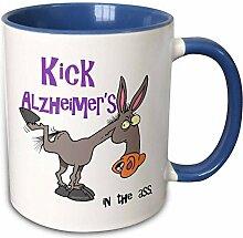 3dRose, Alzheimer, Ass, Schleife, Design-Two,
