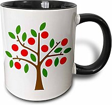 3dRose Apple Tree-Two Ton Kaffeebecher, Keramik,