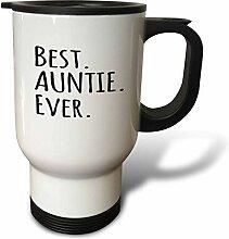 3dRose Auntie Ever-Family für Relatives-Black