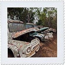 3drose Australien, boyup Brook, alte Trucks Quilt,