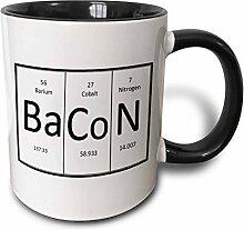 3dRose Bacon–Two Kaffeebecher, Keramik,