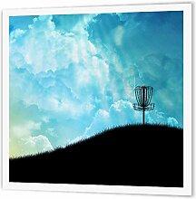 3dRose Basket on a Hill Silhouette eines Frisbee