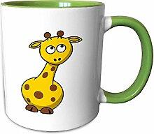 3dRose Becher mit gelben Gerry Girafee mit braunen
