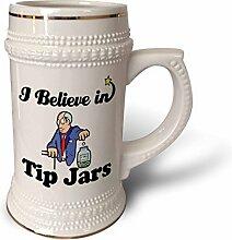 """3dRose Becher mit Schriftzug """"Believe In Tip"""","""
