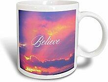 3dRose Believe Becher, Keramik, Ceramic, 15 oz