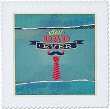 3drose Best Dad Ever mit A blau Schnurrbart