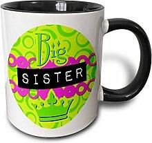 3dRose Big Sister, Grün und Rosa