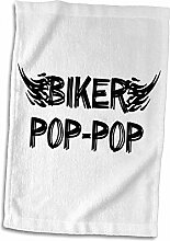 3dRose Biker Pop. Grunge Word Art with Black and