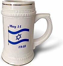 3dRose Bild der Flagge Israel mit seinem Tag der