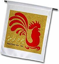 3dRose Bild des chinesischen Neujahrs mit rotem