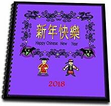 3dRose Bild von Happy Chinese New Year mit Asian