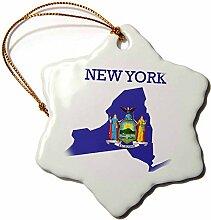 3dRose Bild von New York Exotische Silhouette mit