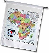3dRose Bild von Topographische Karte von