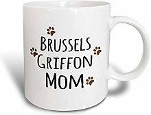 3dRose Brussels Griffon Dog Mom Becher, Keramik,