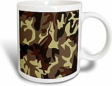 3dRose camo-Magic, Tasse, Keramik, Braun,
