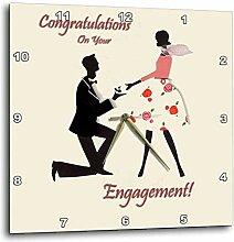 3dRose Congratulations on Sie Verlobungsring