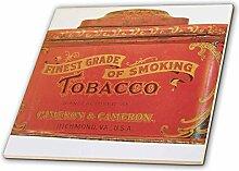 3drose CT _ 21543_ 2vergangenen Tabakdose Keramik Fliesen, 6