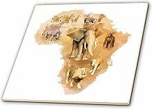 3dRose ct_38675_2 Afrika Montage mit Tieren