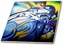 3dRose CT 53874_ 1Pferd Abstrakt Graffiti Wall
