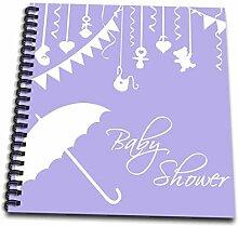 3dRose DB 120278_ 3Lila Violett Baby Dusche