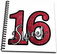 3dRose db_254253_1 Glitzer Sweet sechzehn