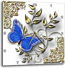 3dRose DPP 150948_ 1blau Schmetterling & Gold