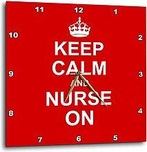 3dRose DPP 157745_ 2Keep Calm and Nurse on-red