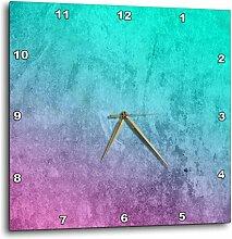 3dRose DPP_239886_2 Wanduhr, Aquarell-Hintergrund,