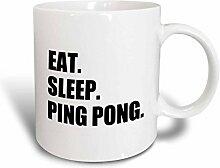 3dRose Eat Sleep Tennis Ping Pong-Sport Humor