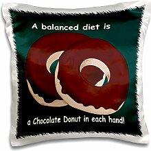 3dRose eine ausgewogene Mahlzeit Eine Schokolade