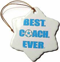 3dRose, Ever-Blue Coach, Schneeflocken-Design,