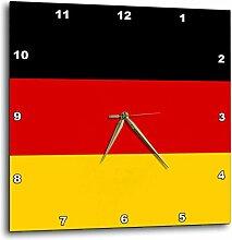 3dRose Fahne Deutschland-Deutschland Schwarz Rot