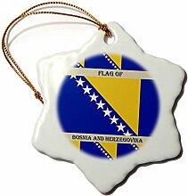 3dRose Fahne Flagge Bosnien und Herzegowina-,