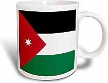3dRose Fahne Flagge Jordan-Jordanian mit weißem